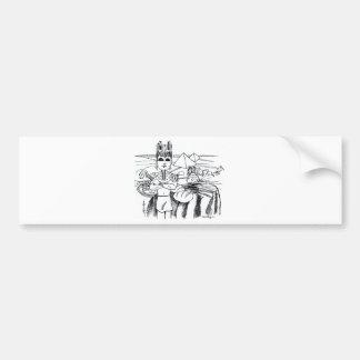 farao com mesa egito antigo bumper stickers