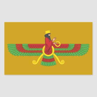 Faravahar Symbol Rectangular Sticker
