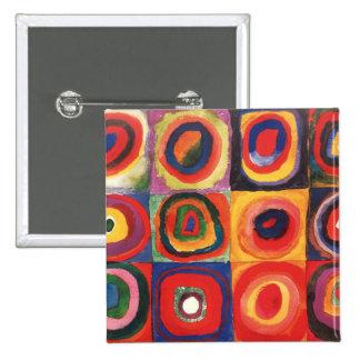 Farbstudie Quadrate - colorful art Button