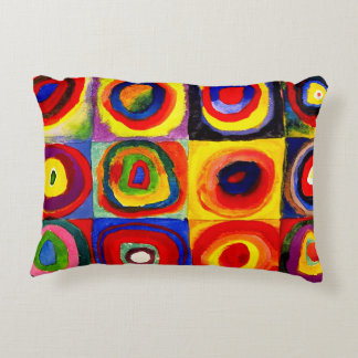 Farbstudie Quadrate Kandinsky Squares Circles Decorative Cushion