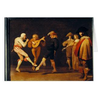 Farce Actors Dancing Card