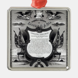 Farewell Address of General Robert E. Lee Metal Ornament