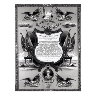 Farewell Address of General Robert E. Lee Postcard