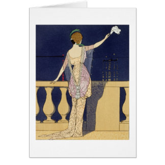 Farewell at Night, design for an evening dress by Greeting Card