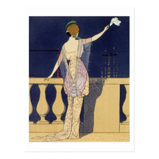 Farewell at Night, design for an evening dress by Postcard