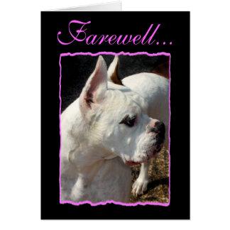 Farewell Boxer dog greeting card