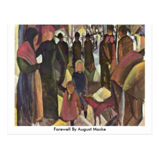Farewell By August Macke Post Cards