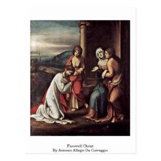 Farewell Christ By Antonio Allegri Da Correggio Postcard