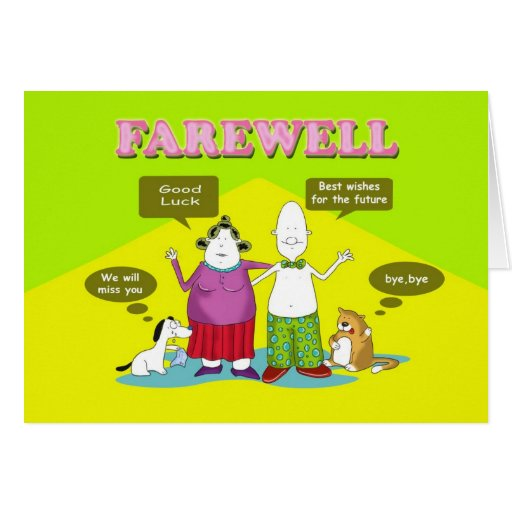 Farewell, Duncan and friends Greeting Card