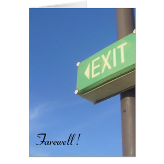 farewell exit greeting card