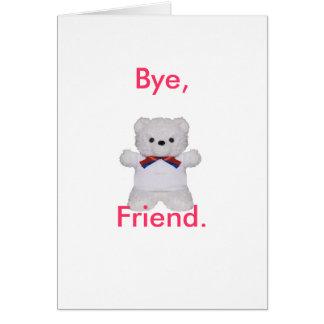 Farewell friend card