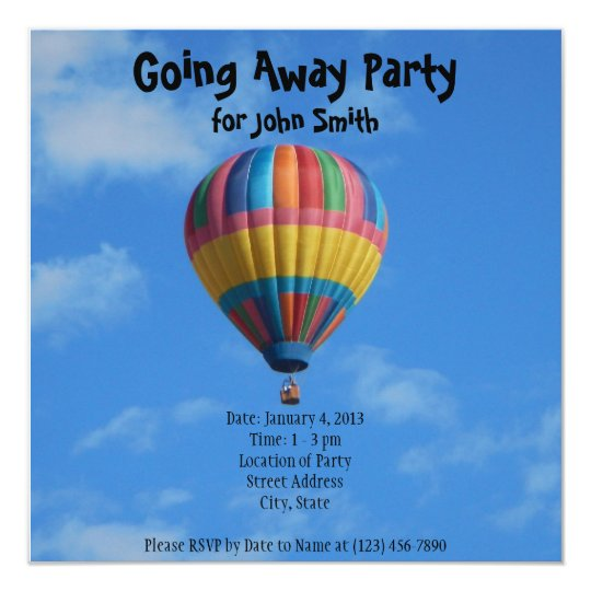 farewell  going away party invitation