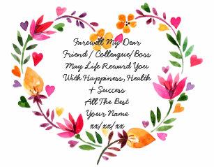 Goodbye Poem Gifts on Zazzle AU