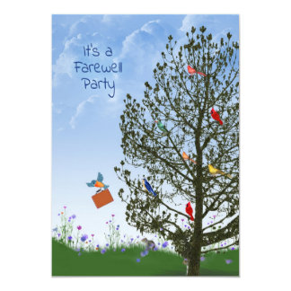 Farewell Party 13 Cm X 18 Cm Invitation Card