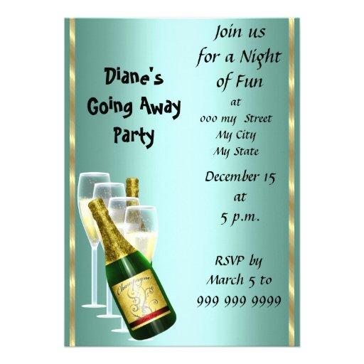 "Farewell Party Invitation Card Good Bye 5"" X 7"" Invitation ..."