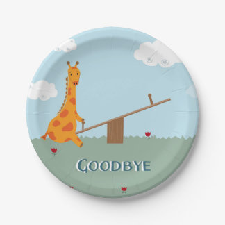 Farewell Party Plates 7 Inch Paper Plate