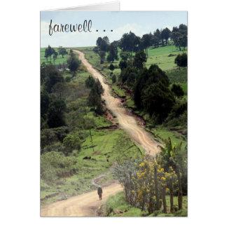 farewell path greeting card