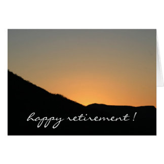 farewell to the sunset greeting card