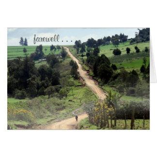farewell track greeting card