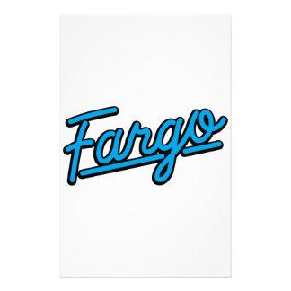 Fargo in cyan custom stationery