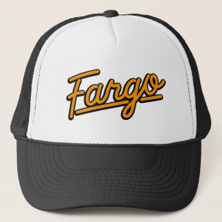 Fargo in orange trucker hat