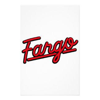Fargo in red stationery