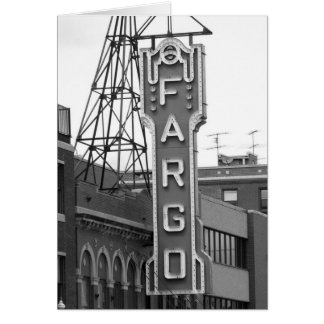 Fargo Movie Theatre Placard Card