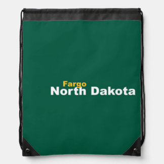 Fargo, North Dakota Drawstring Backpack
