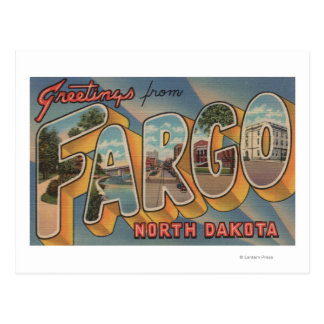 Fargo, North Dakota - Large Letter Scenes Postcard