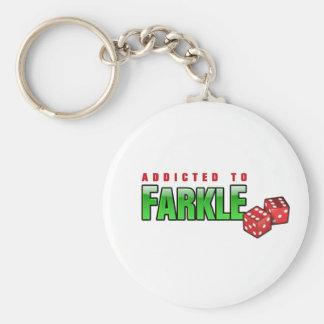 FARKLE - addicted Basic Round Button Key Ring
