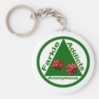 Farkle Addicts Anonymous Basic Round Button Key Ring