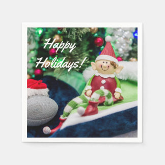 Farley the Elf Christmas Napkins Paper Napkin