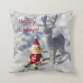 Farley the Elf Throw Pillow