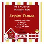 farm2 copy, It's a Barnyard Birthday Bash!, for... Personalized Invitations