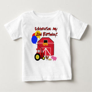 Farm 2nd Birthday Baby T-Shirt