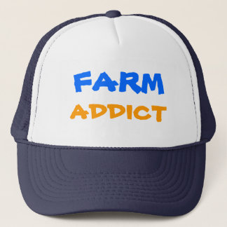 FARM, ADDICT, Designs By Che Dean Trucker Hat