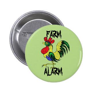 Farm Alarm 6 Cm Round Badge
