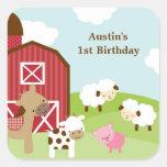 Farm Animal Birthday Stickers