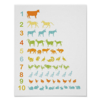 Farm Animal counting print