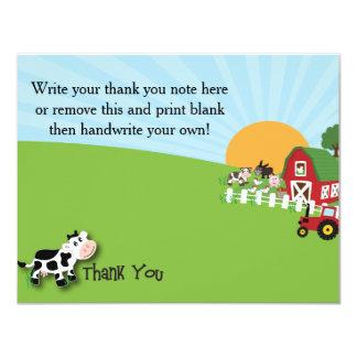 Farm Animal Thank You Card