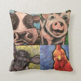 Farm Animal Throw Cushion