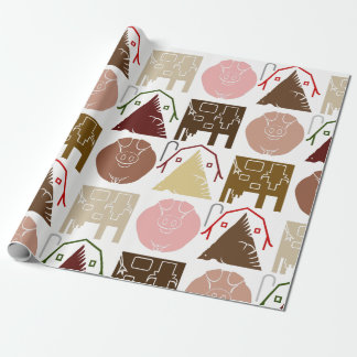 Farm Animal Wrapping Paper