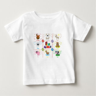 Farm Animals Baby T-Shirt