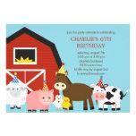 Farm Animals Birthday Party Invitation Personalized Invitations