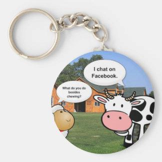 Farm animals cute cartoon funny facebook chat key chain