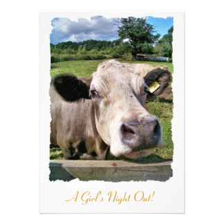 FARM ANIMALS, CUTE COW INVITATION