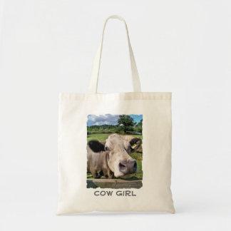 FARM ANIMALS, CUTE COW BUDGET TOTE BAG