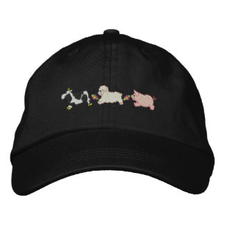 Farm Animals Embroidered Baseball Caps