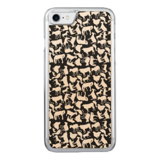 Farm Animals Pattern Carved iPhone 7 Case