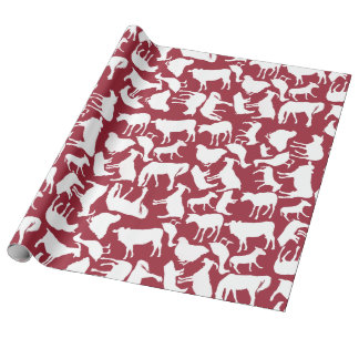 Farm Animals Pattern Wrapping Paper
